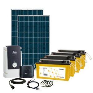 Off-Grid-Solar-Kit-520W-24V-Steca-Inverter-amp-MPPT-Charge-Controller-amp-Batteries