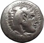 Alexander III the Great as Hercules Ancient Silver Drachm Greek Coin Zeus i47350