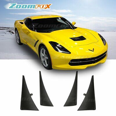 Set of 4 Front and Rear Splash Guard Mud Flaps for 2014-2019 Chevrolet Corvette C7 Convertible Coupe