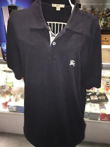 Burberry-Brit-Men-Casual-Short-Sleeve-Nova-Mens-Polo-Shirt-Black-Size-S