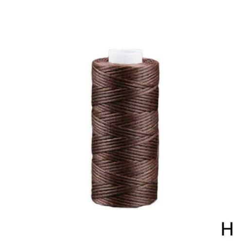 Waxed Thread 0.8mm Flat Polyester Cord Sewing Stitching Leather Craft B9I1