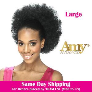 Image Is Loading Afro Drawstring Ponytail Puffy Small Medium Large