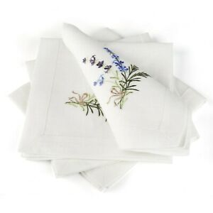 Embroidered-Linen-Table-Napkins-Set-of-4-40-x-40-cm-100-European-Linen