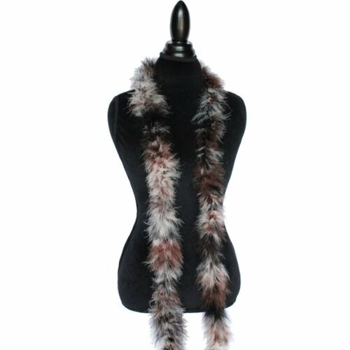 Brown//Black//White Mix 22 Grams Marabou Feather Boa 6 Feet Long Sewing Trim