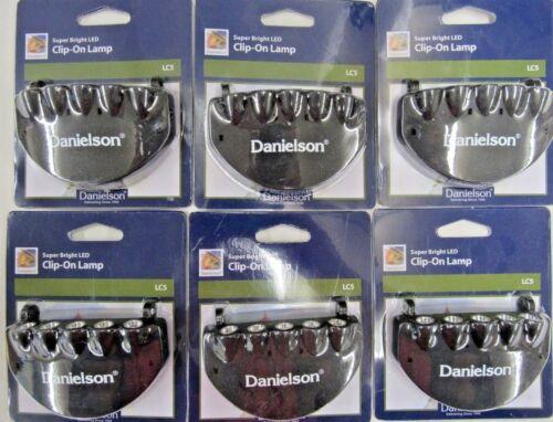 Lot Of 6 Danielson Super Bright LED Cap Light Variable Light Settings and Flash