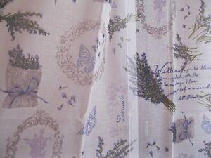 Coppia tendine tende finestra casa shabby provenzale lili 2 teli cm