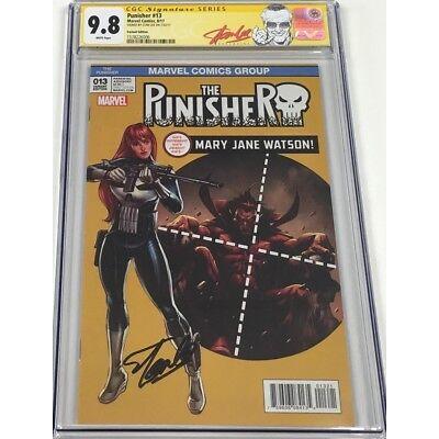 Marvel Punisher #13 ASM129 Homage Signed Stan Lee CGC 9.8 SS Mary Jane Variant