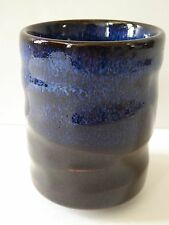 "Japanese 3.25"" H Porcelain Yunomi Tea Cup/Big Sky at Midnight Blue/Made in Japan"
