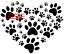 A4 /& A3 LOVE HEART MYLAR STENCIL HOME DECOR PAINTING WALL ART 190 MICRON