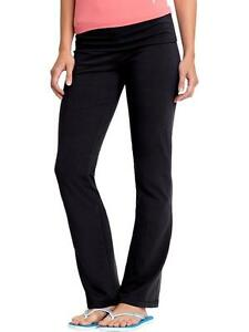 genuine shoes sleek fast delivery Details about Old Navy Women's Active High Rise Fold Over Yoga Pants (#633)  - BLACK