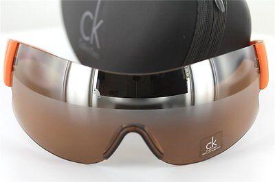 AnpassungsfäHig Calvin Klein Ck 1069s 286 Sonnenbrille Braun/orange Sunglasses Dauerhafte Modellierung Kleidung & Accessoires