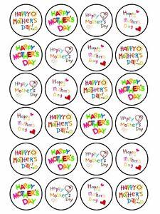 24 x Edible Mother/'s Day Birthday Mummy Mum Grandma Nanny Cupcake Cake Topper