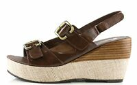 Antelope Woman's Brown Leather Wedge Sandals 8972 Size 41 Eu