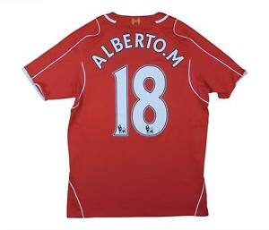 Liverpool 2014-15 Authentic Home Shirt Moreno #18 (eccellente) M SOCCER JERSEY