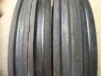 Ford Tractor (2) 13.6x28 8 Ply Tires W/wheels & (2) 600x16 3 Rib W/tubes