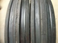 Ford Tractor (2) 13.6x28 8 Ply Tires W/wheels & (2) 600x16 3 Rib W/tubes