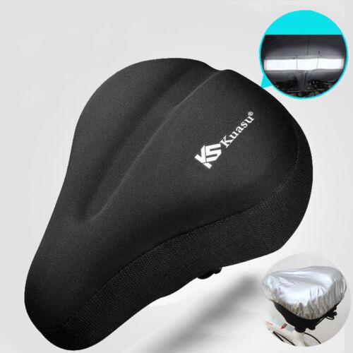 Mountain Bike Saddle MTB Cushion Lycra Fabric Seat Cover With Reflective Strip