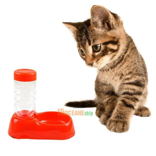 Automatic Water Feeder Dispenser Food Dish Bowl For Pet Dog Cat