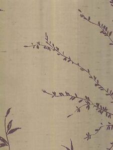 Wallpaper Modern Taupe Purple Watercolor Branch Stripe