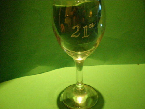 Personalised Gifts Free Hand Engraved Wine Glass Name //Initials 18 //21 //50 etc