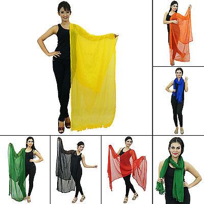 Black Indian Chunni Fashion Chiffon Blend Dupatta Women Long Stole NDP320C