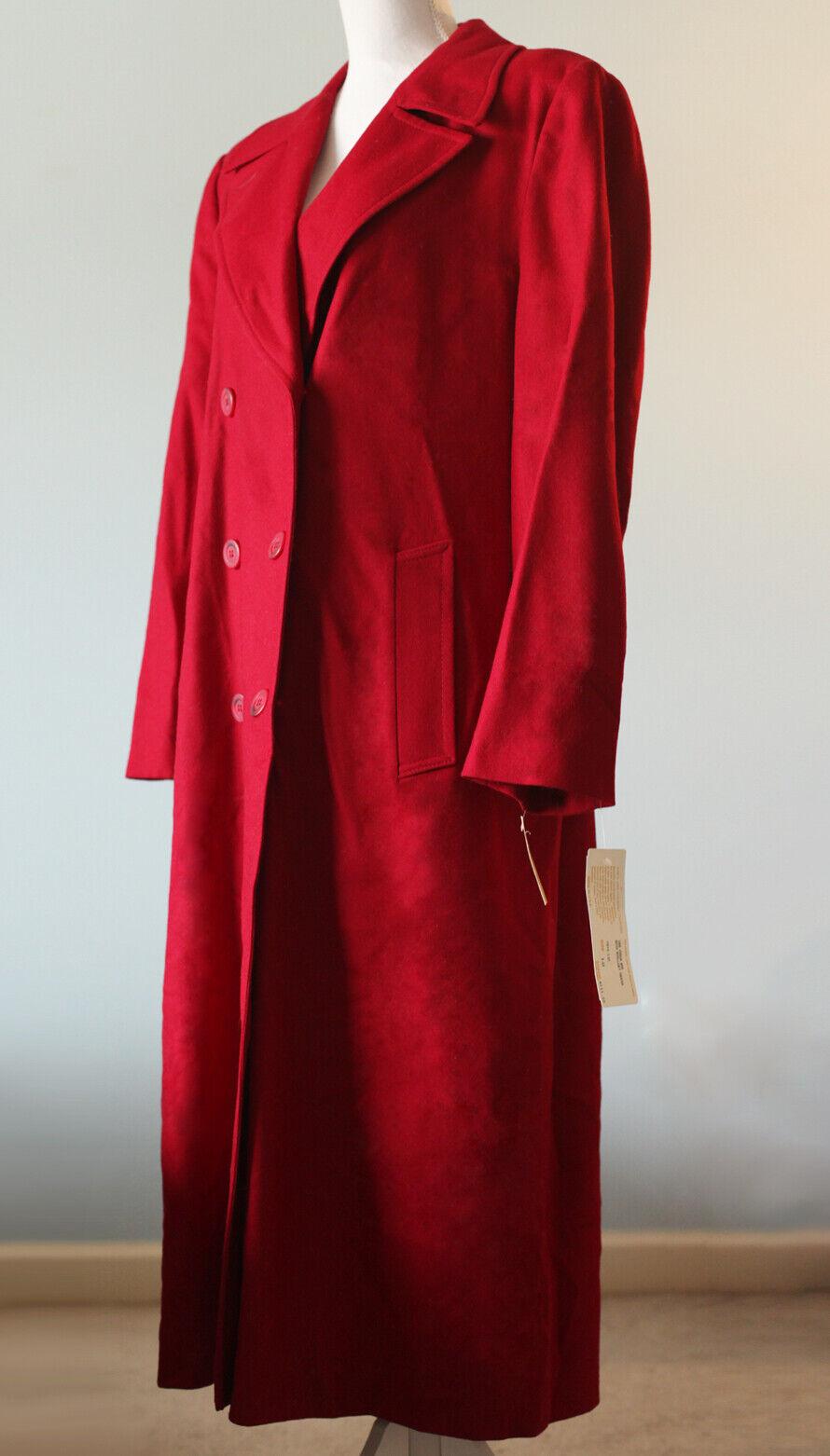 Lana Pendleton Rojo Nuevo con etiquetas lana virgen para Mujer  Chaquetón Nuevo Tamaño 12  distribución global