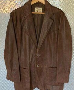 Mens-CRIPPLE-CREEK-Leather-Cowboy-Collection-Western-Jacket-Blazer-Sport-Coat