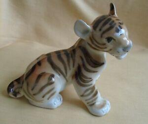 Lomonosov Russian Porcelain Animal Figure Tiger Cub
