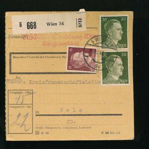 Paket-Karte 1944 aus Wien 54 (H48)