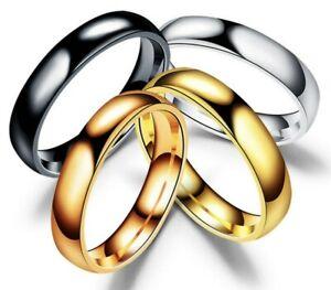 Anello-fede-fedina-in-acciaio-semplice-4-mm-uomo-donna-lucido-unisex