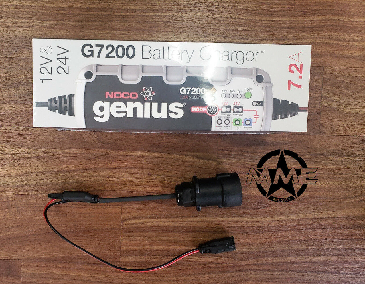 NOCO G7200 12//24V Charger With Military Slave//Nato Humvee LMTV 5 Ton M998 H1 Het