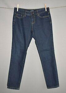 ANN-TAYLOR-LOFT-69-Dark-Wash-Modern-Skinny-Leg-Denim-Jean-Size-4P