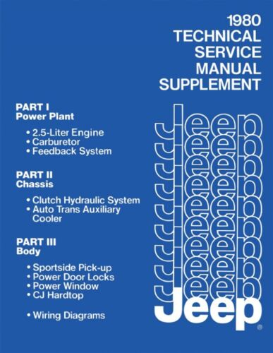 1980 Jeep Technical Service Manual Supplement