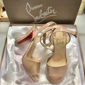 dc7be8bf015 Details about Christian Louboutin Havana Forties Nude 38