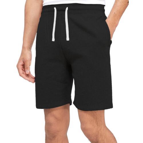 Mens Freshman Fleece ShortsElasticated Waist Summer Jogger Gym Cycling Casual