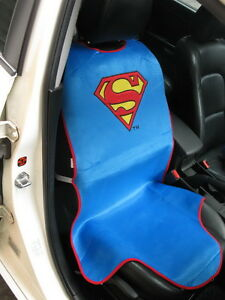 Image Is Loading Superman Car Accessory Blue 1 Piece Seat