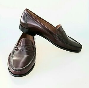 Men's New Bass Weejun Penny Loafer Shoes Handsewn Leather ...