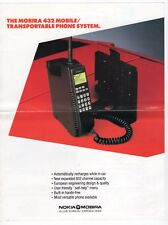"Vintage Ad Sales Sheet: Nokia ""Mobira 432 Mobile/Transportable Phone System"""