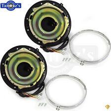 55-57 Pick Up Headlight Headlamp Light Lamp BUCKET Retainer Ring Housing PAIR