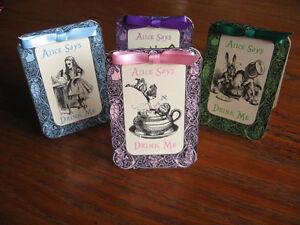 8 Grande tente cartes décoration de table pour Tea Party Favors avec citations et ruban
