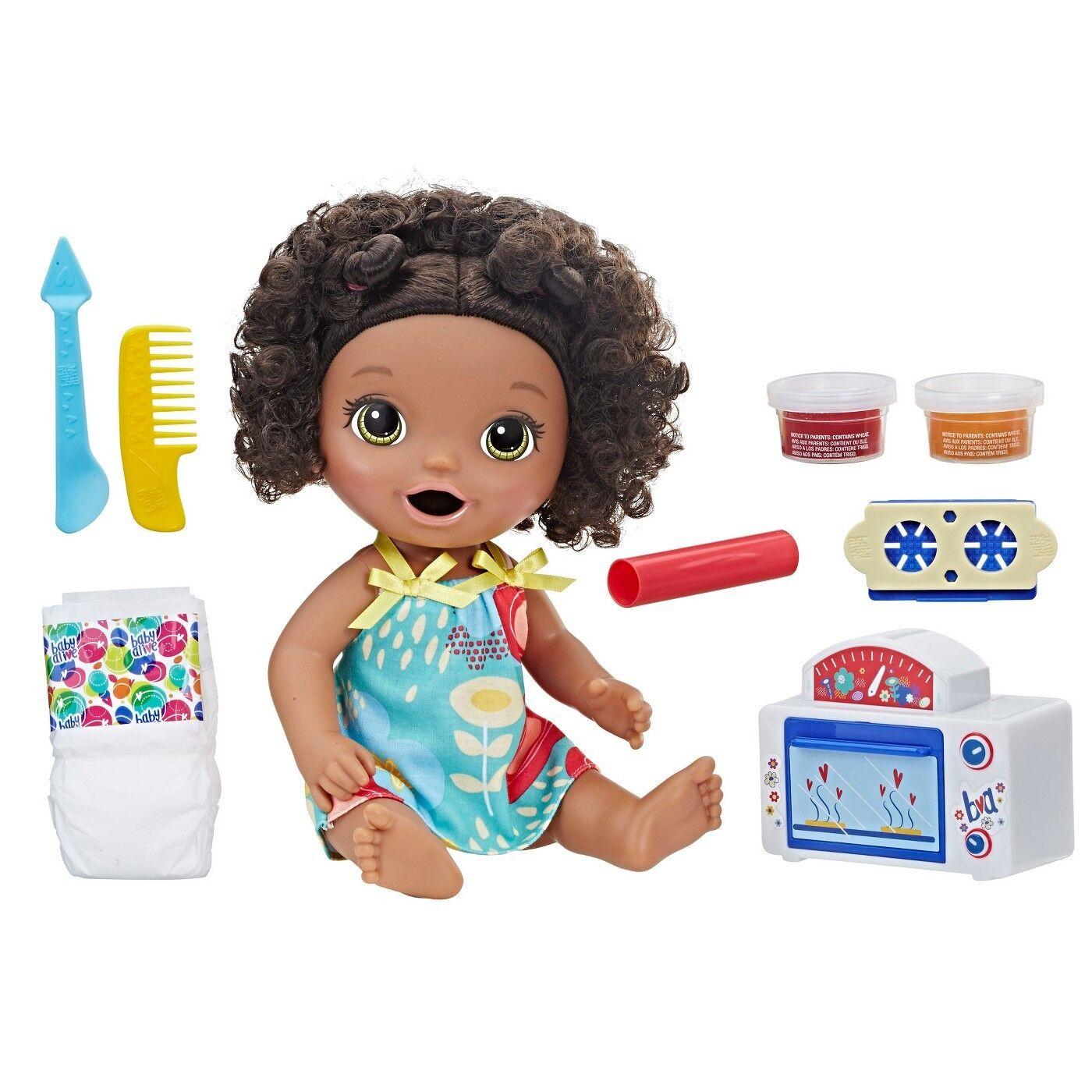 Baby Alive Snackin' Treats Baby schwarz Curly Hair