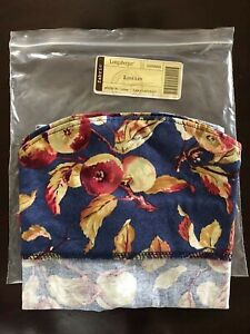 Fabric Liner 4 Your Large Foyer Basket NEW Longaberger Early Harvest Apples