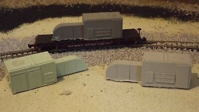 N-Scale  2pc 65/' Wood Pole Loads 1:160 Model Train Detail Unfinished