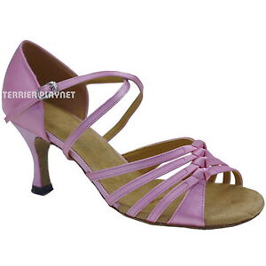 TPS-Light-Pink-Satin-Latin-Ballroom-Salsa-Custom-made-Dance-Shoes-D730