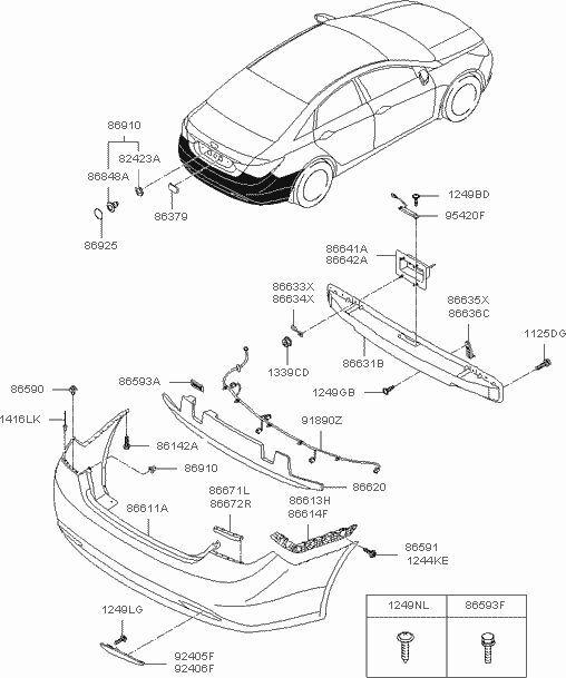 Buy Hyundai Oem 11 15 Sonata Rear Bumper Inner Bracket Left