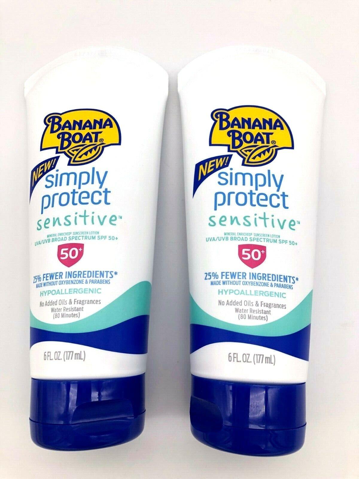 Banana Boat Simply Protect Sensitive Sunscreen Lotion Spf 50