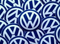 Volkswagen VW Logo 4 Inch Blue/White Sticker Decal