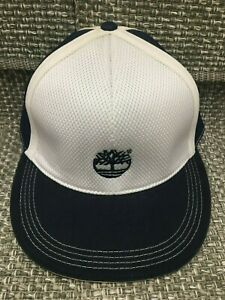 Details about Timberland Fitted Baseball Cap Ball Hat Size 7 58 Navy Blue&White 100%Authentic