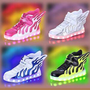 kinder m dchen junge kinderschuhe led licht sneakers schuhe blinkschuhe bc311 ebay. Black Bedroom Furniture Sets. Home Design Ideas