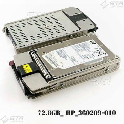 "Lot of 2 HP 72.8GB Ultra320 SCSI 15K 3.5/"" Hard Drive w//Caddy 412751-014"